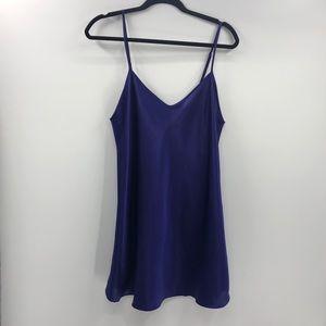 ⭐️Shirley of Hollywood Purple Satin Chemise Slip